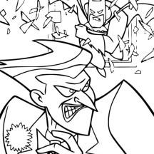Joker Run from Batman Coloring Page