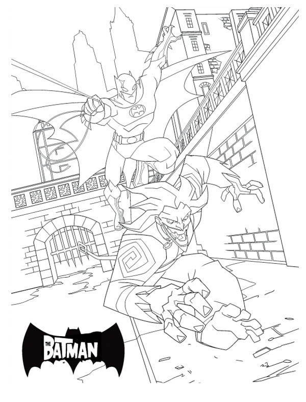 Joker is Batman Mortal Enemy Coloring Page