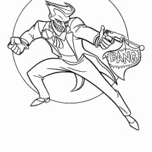 Joker with Fake Pistol Coloring Page