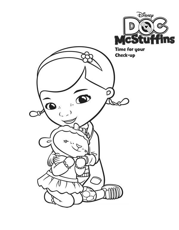It is a photo of Decisive Doc Mcstuffins Drawing