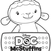 Lambie the Lamb in Doc McStuffins Coloring Page