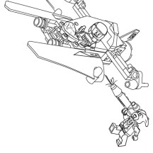 Lego Spaceship Coloring Page