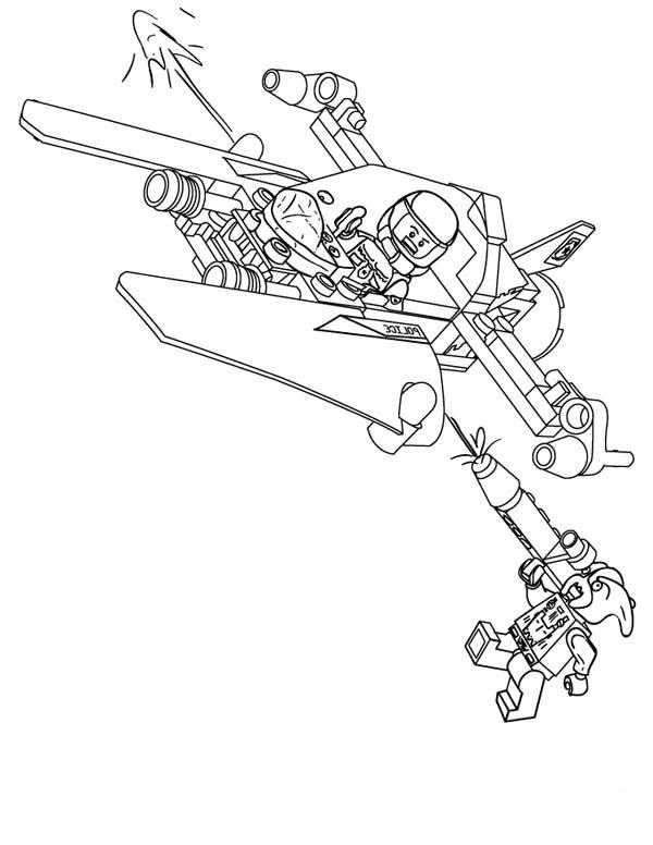 Lego Spaceship Coloring Page