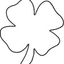 Lets Draw Four-Leaf Clover Coloring Page