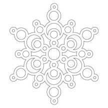 Magnificent Snowflakes Coloring Page