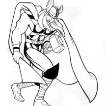 Marvel Hero Thor Coloring Page