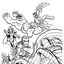 Marvel Super Hero Squad Attacking Magneto Coloring Page