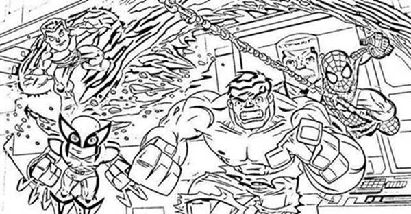 Marvelous Super Hero Squad Coloring Page