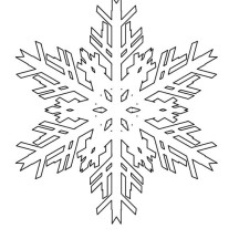 Melting Snowflakes Coloring Page