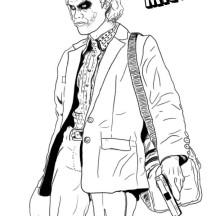 Mr J is Joker Coloring Page