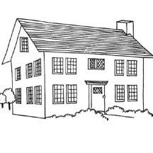 My Friend House in Houses Coloring Page