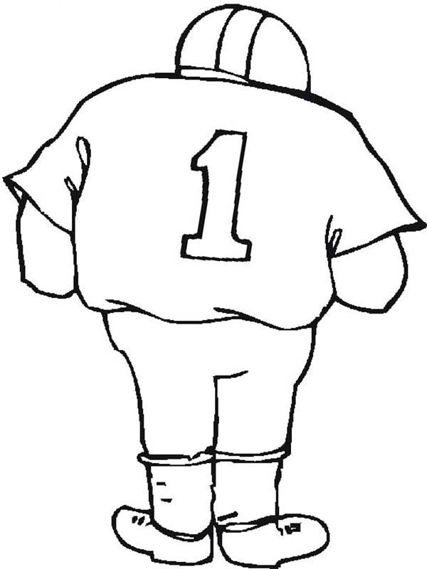 NFL Player Number One Coloring Page