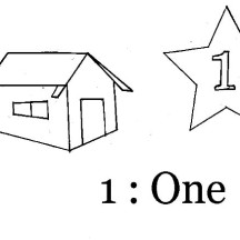 Number One House Coloring Page