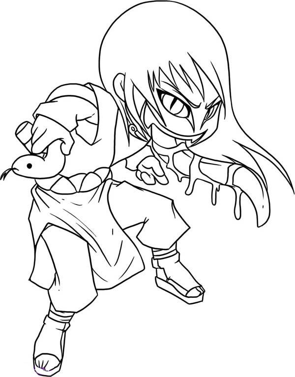 Orochimaru Chibi Draw Coloring Page
