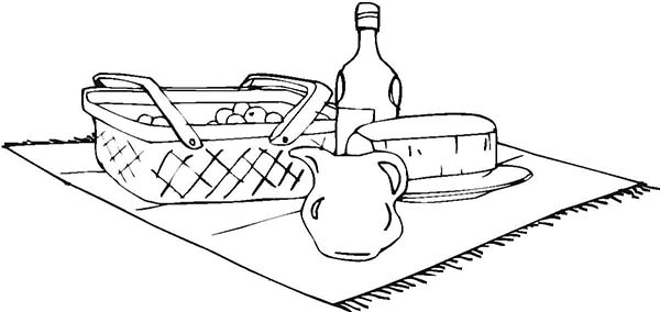 Picnic Food is Ready Coloring Page