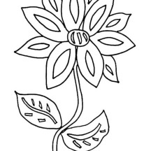 Picture of Flower Coloring Page