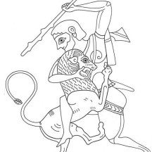 Picture of Greek Gods and Goddesses Coloring Page