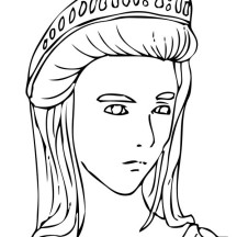 Picture of Hera from Greek Gods and Goddesses Coloring Page