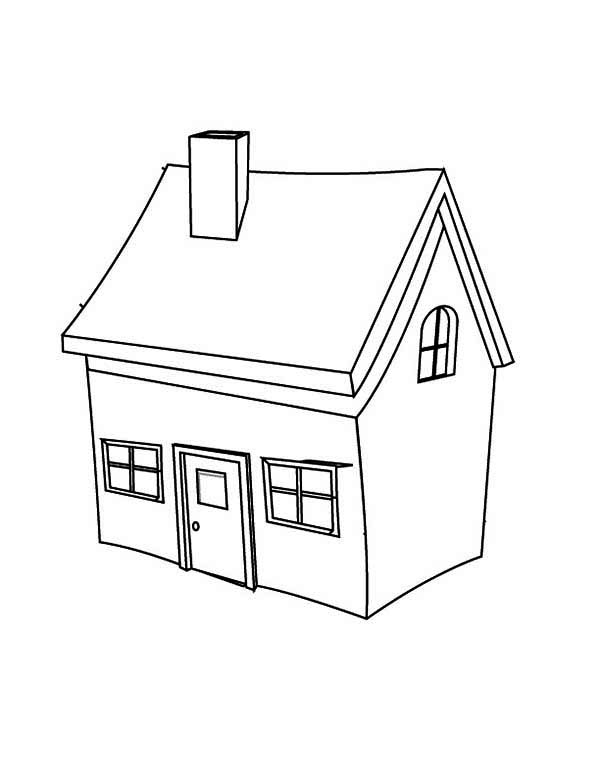 Picture of House in Houses Coloring Page