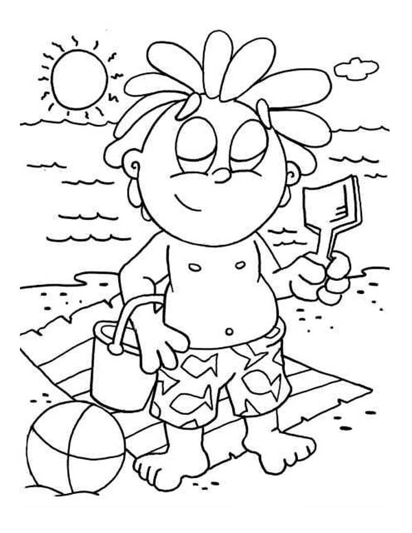sand beach coloring pages - photo#18
