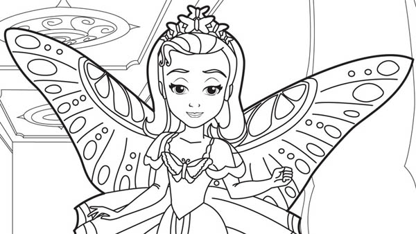 - Princess Amber In Sofia The First Coloring Page - NetArt