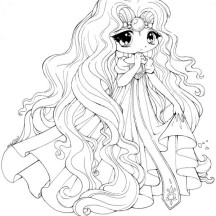 Princess Emeraude Chibi Draw Coloring Page
