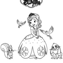 Princess Sofia and Friends in Sofia the First Poster Coloring Page