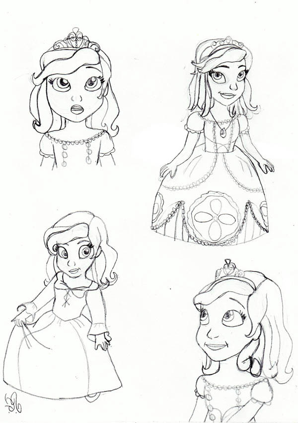 Princess Sofia The First Face Coloring Page Netart