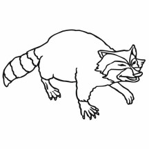 Raccoon Hunt for Food Coloring Page