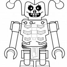 Robot Joker Coloring Page