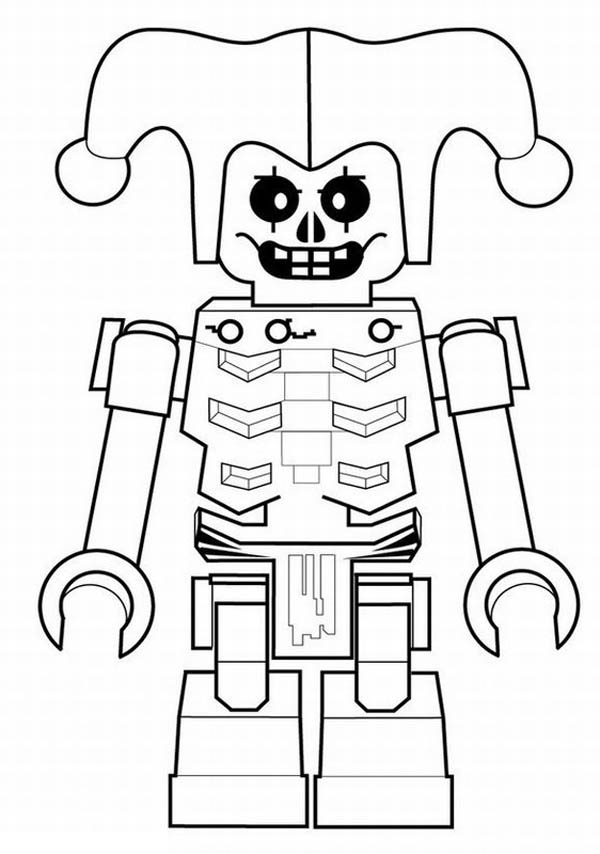 robot joker coloring page netart. Black Bedroom Furniture Sets. Home Design Ideas