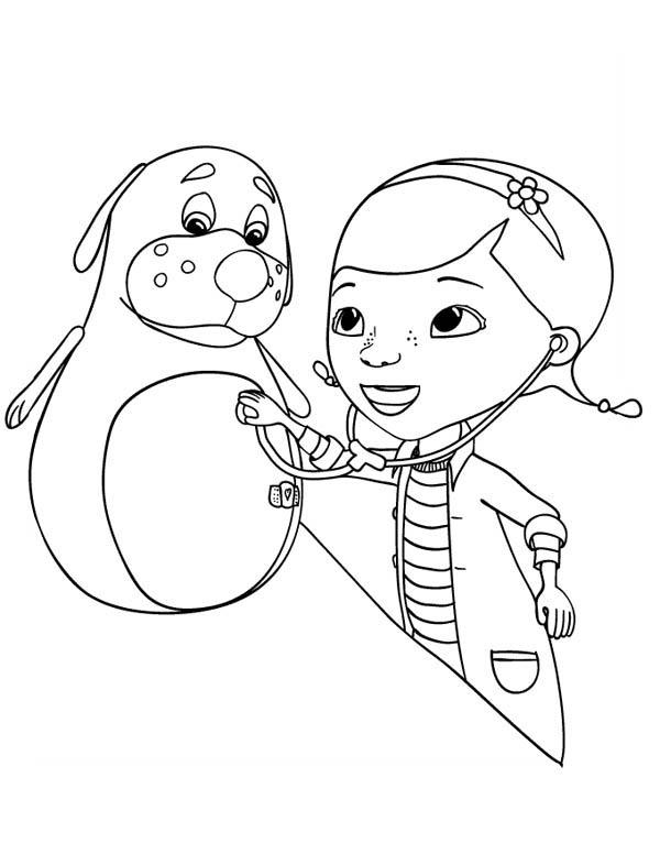 Rudy is a Little bit Sick Doc McStuffins Coloring Page