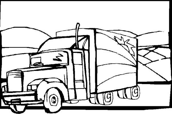 cattle truck coloring pages - photo#37