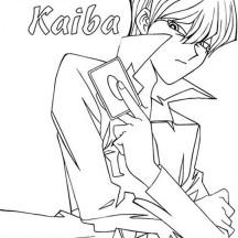 Seto Kaiba From Yu Gi Oh Coloring Page