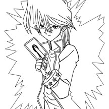 Seto Kaiba is Angry in Yu Gi Oh Coloring Page