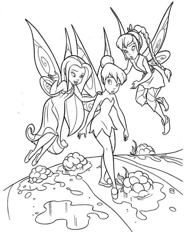 tinkerbell silver mist coloring pages | Silvermist Fawn and Tinkerbell Coloring Page - NetArt