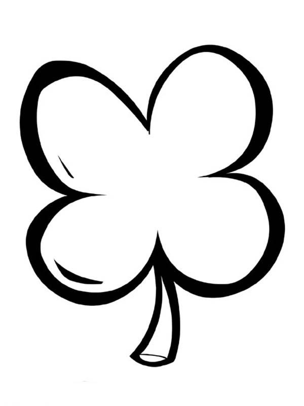Simple Drawing of FourLeaf Clover