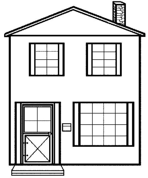 Simple House Picture in Houses Coloring Page NetArt
