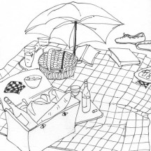 Small Picnic Goods Coloring Page