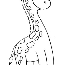 Smiling Giraffe Coloring Page