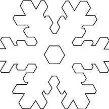 Snowflake Stellarplate Tactile Coloring Page