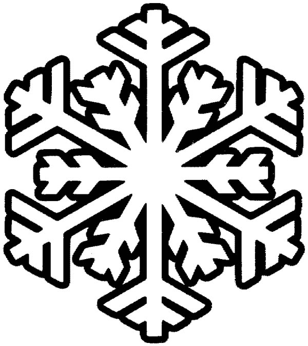 Snowflakes Coloring Page