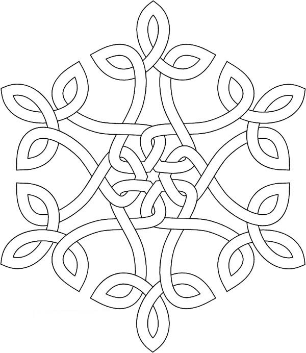 snowflakes image coloring page