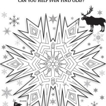 Snowflakes Maze Coloring Page