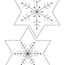 Snowflakes Picture Coloring Page