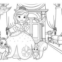 Sofia The First Picture Coloring Page