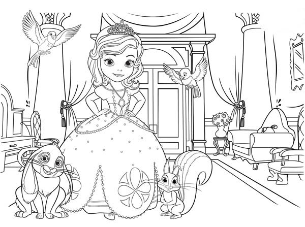 Sofia The First Picture Coloring Page Netart