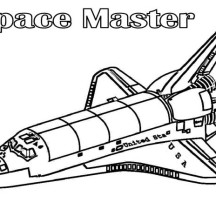 Space Master Spaceship Coloring Page