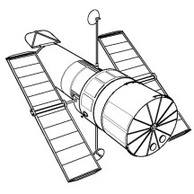 Spaceship Satellite Coloring Page