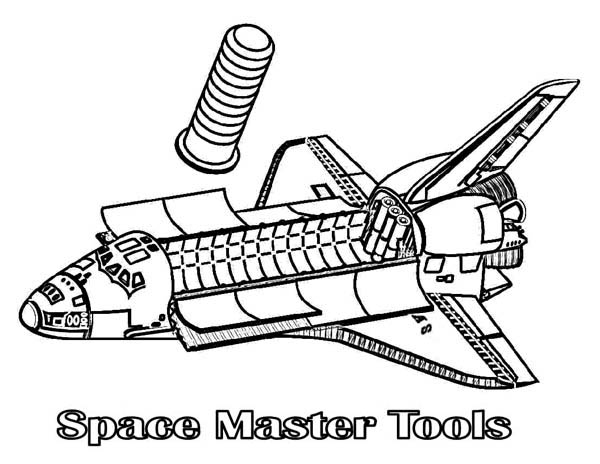 Spaceship from Inside Coloring Page